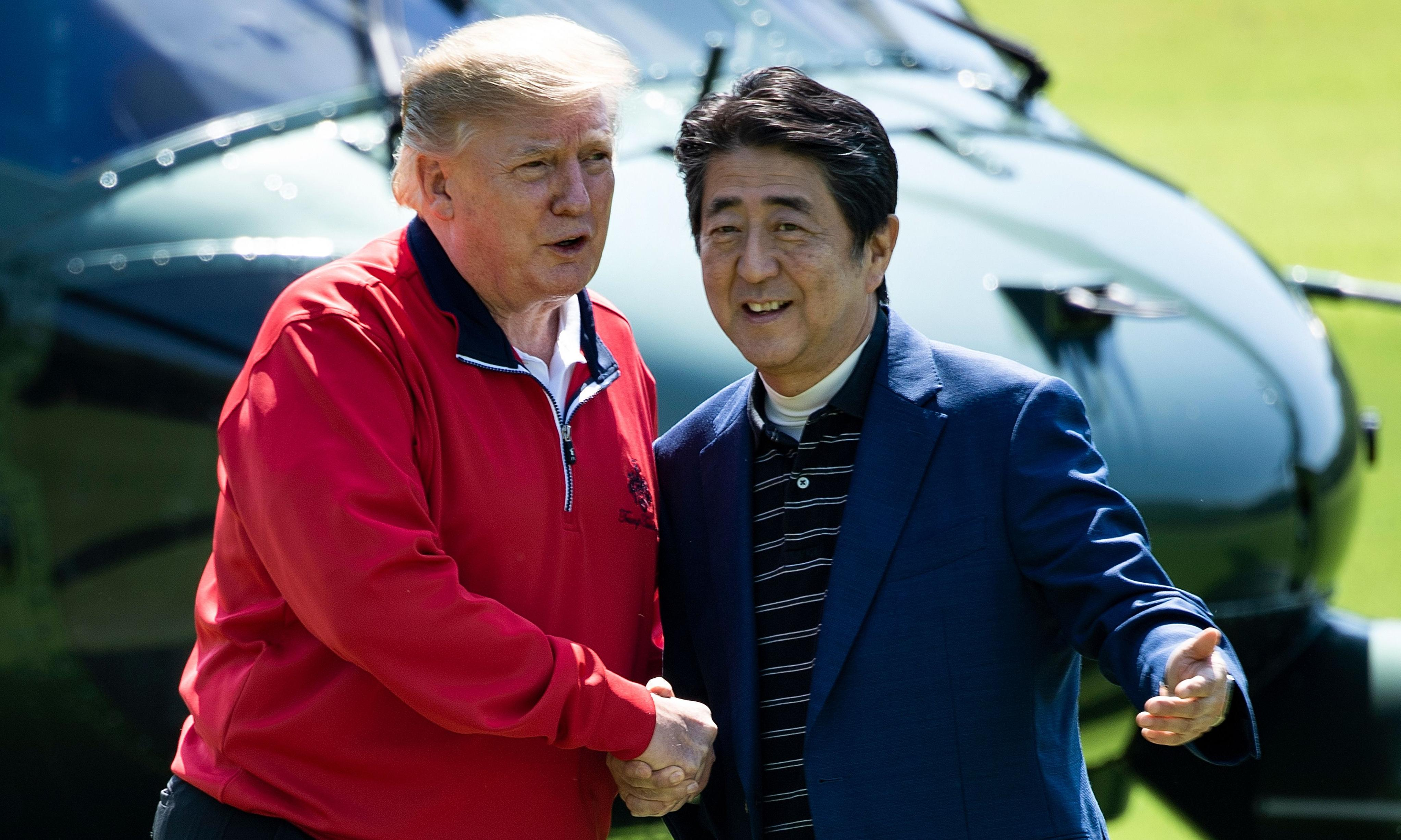 Trump brushes off North Korea's launch of 'some small weapons'