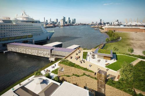 A huge new cruise ship terminal is planned for the River Thames.