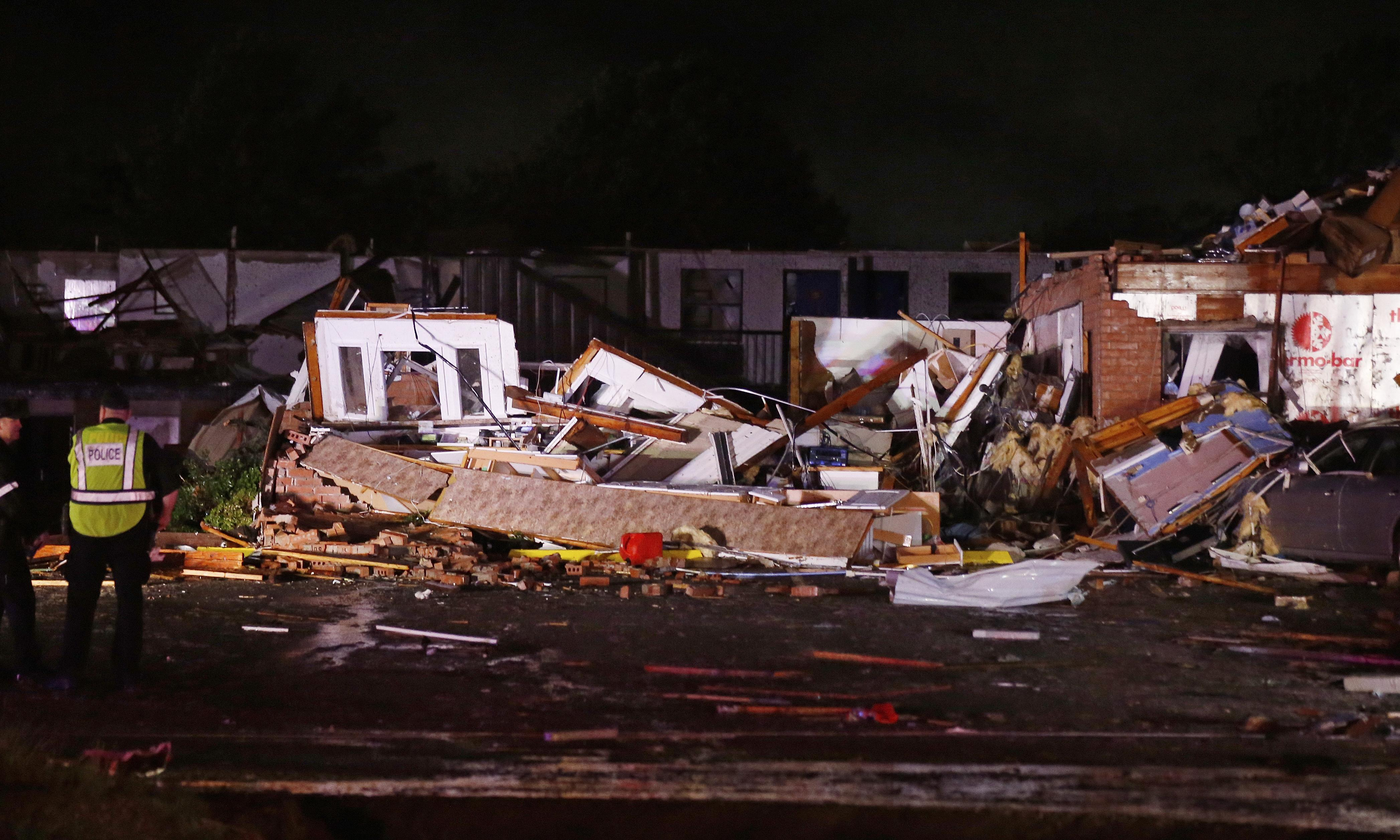 Oklahoma: two dead after possible tornado as storms death toll climbs