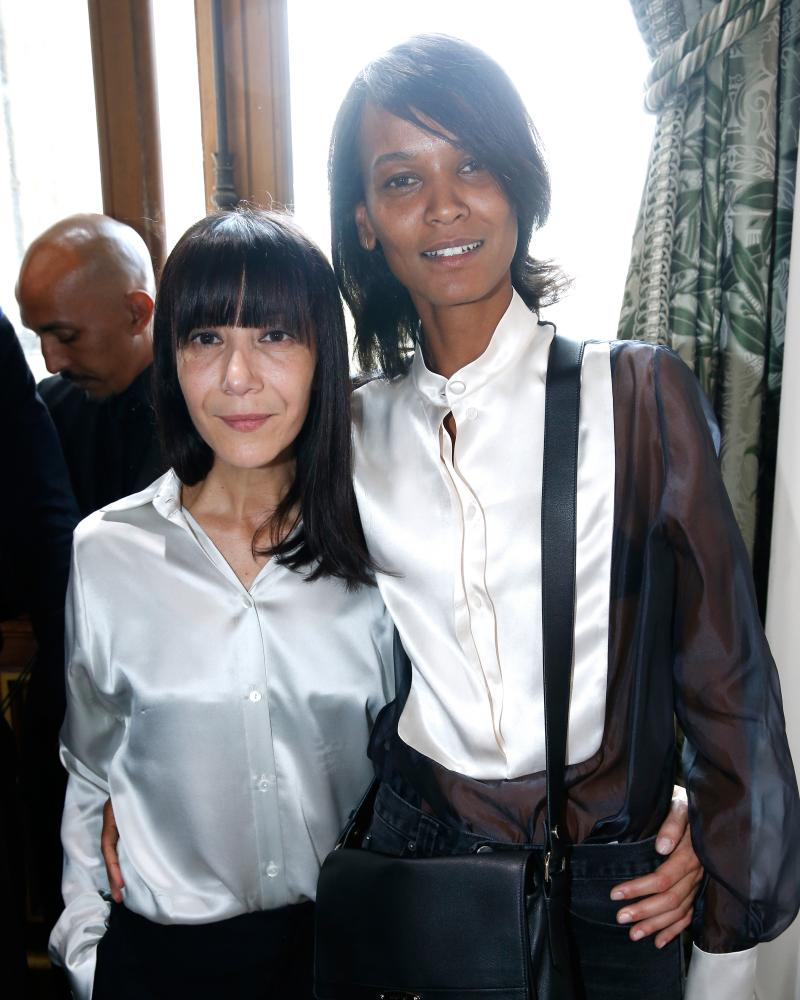 Bouchra Jarrar with model Liya Kebede after the Lanvin show.