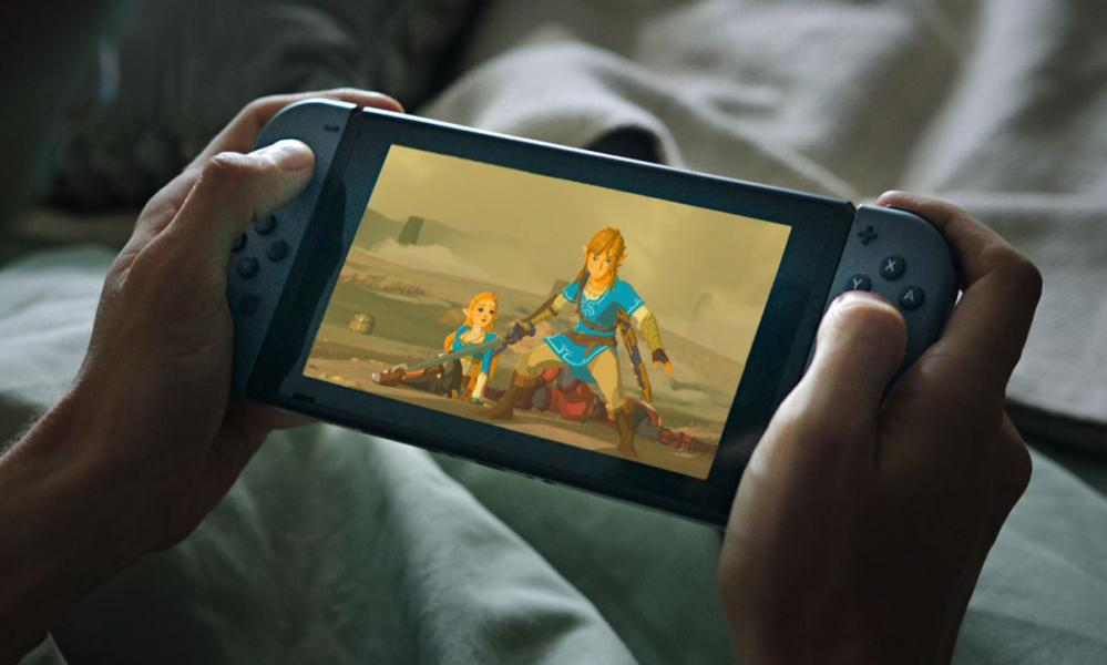 A still the Nintendo Switch Super Bowl 51 commercial.