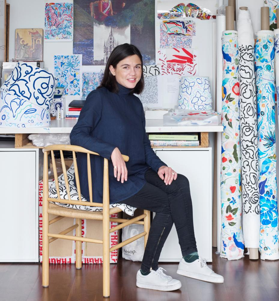 Claire de Quenetain in her studio