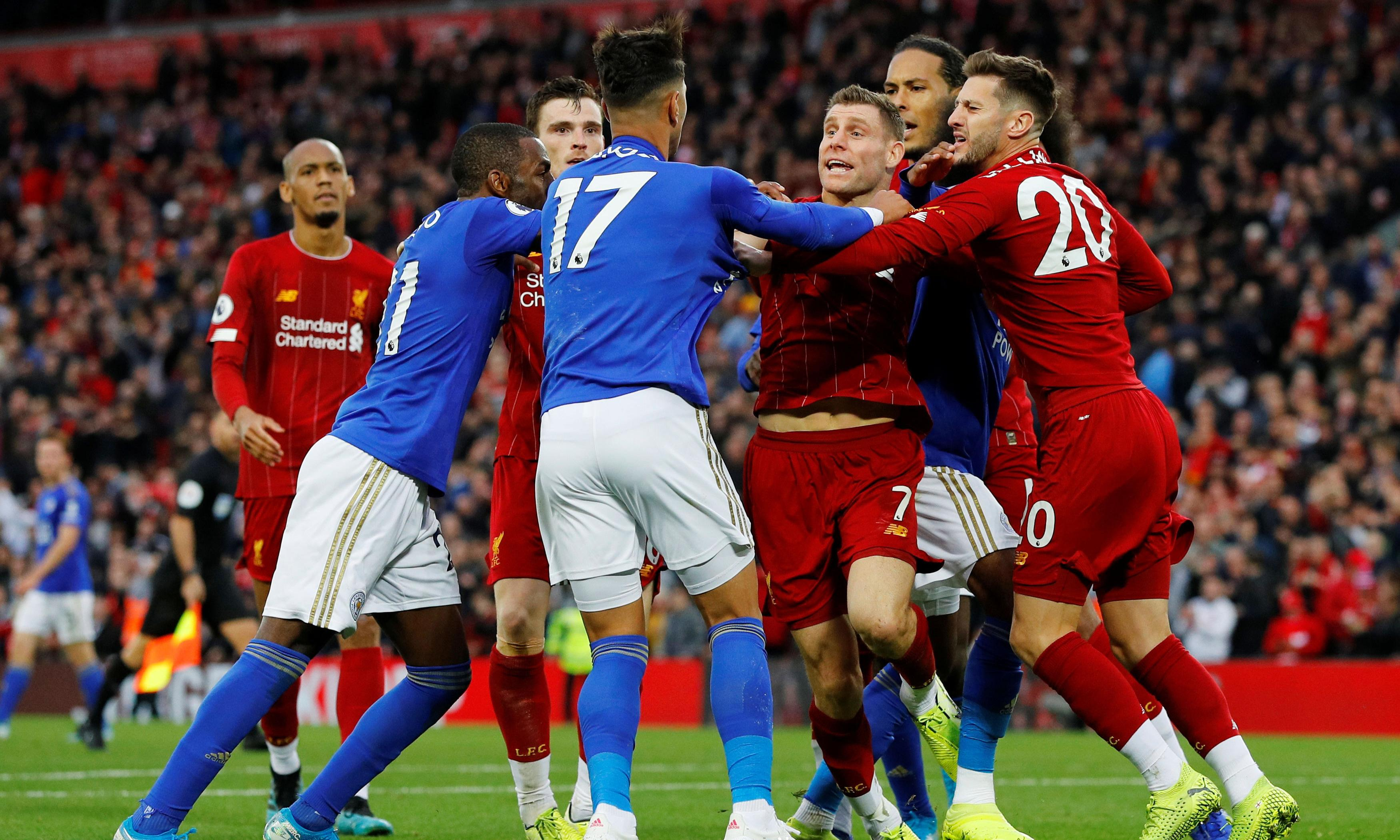 James Milner downs Leicester at the last to keep up Liverpool's perfect start