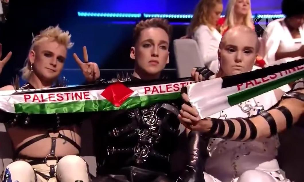 Israeli culture minister criticises Palestinian flags at Eurovision