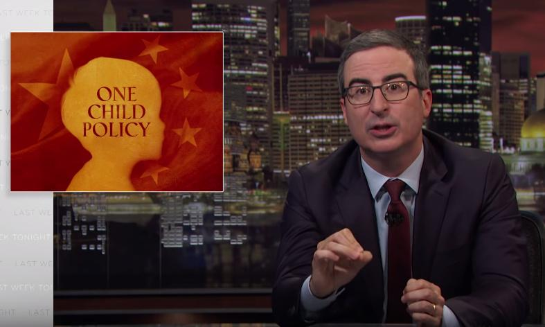'People are not machines': John Oliver examines China's one-child policy