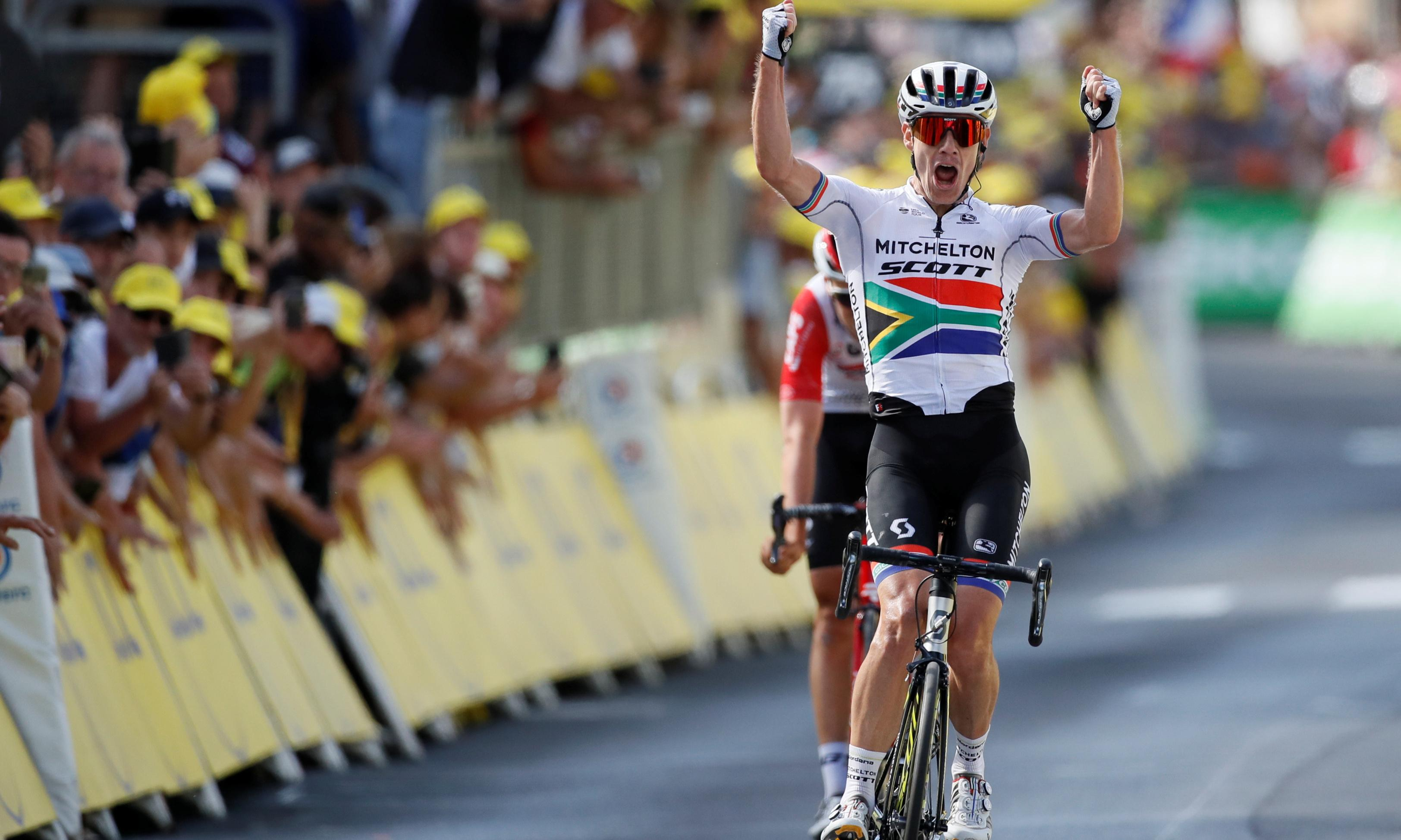 Daryl Impey sprints to Bastille Day victory in Tour de France