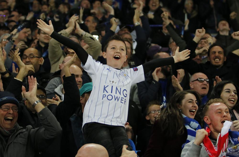 There's lots of happy faces at the King Power.