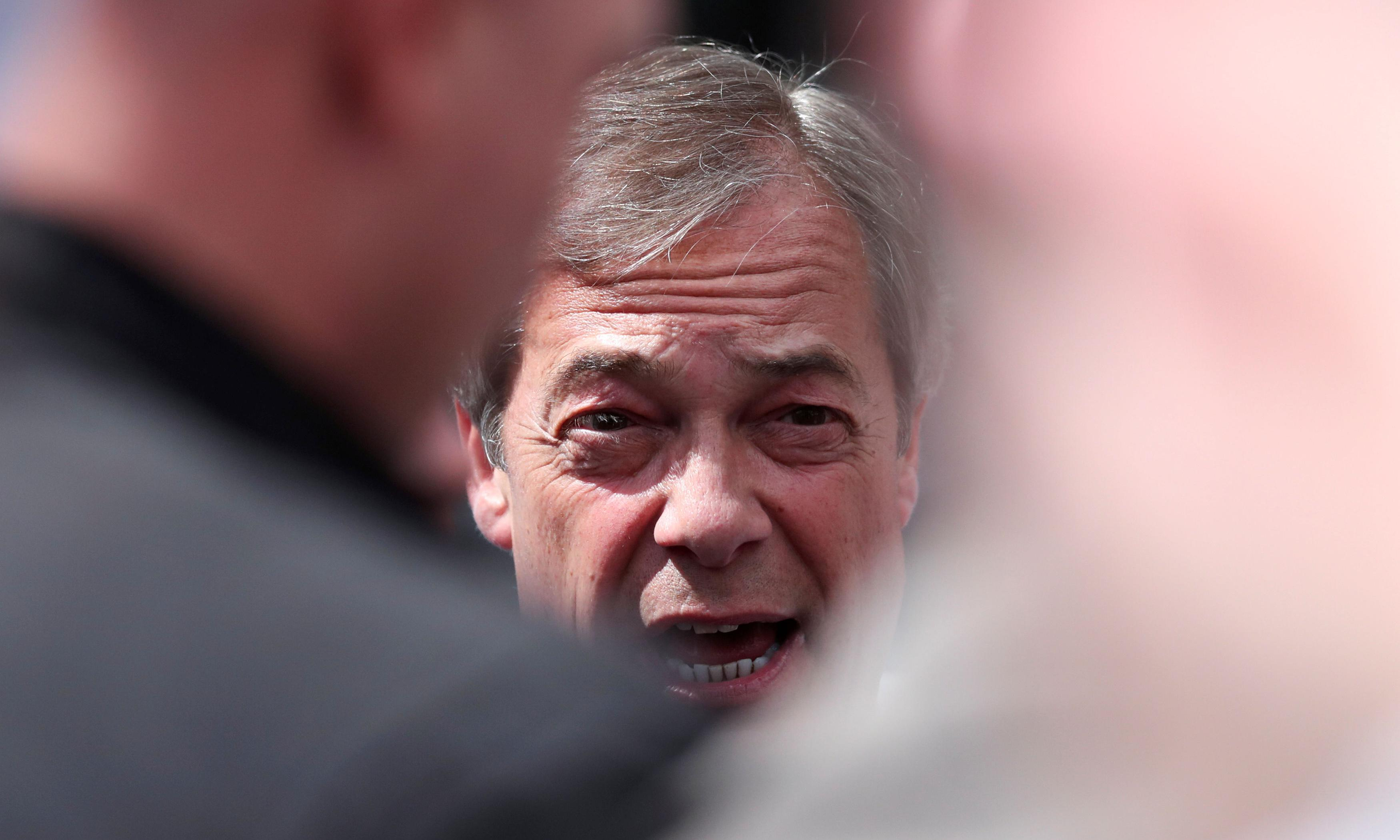 Nigel Farage denies Brexit party has accepted foreign donations