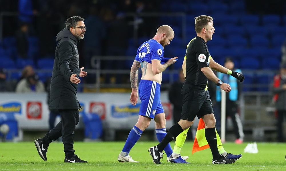 David Wagner was unhappy with the match officials in Cardiff.