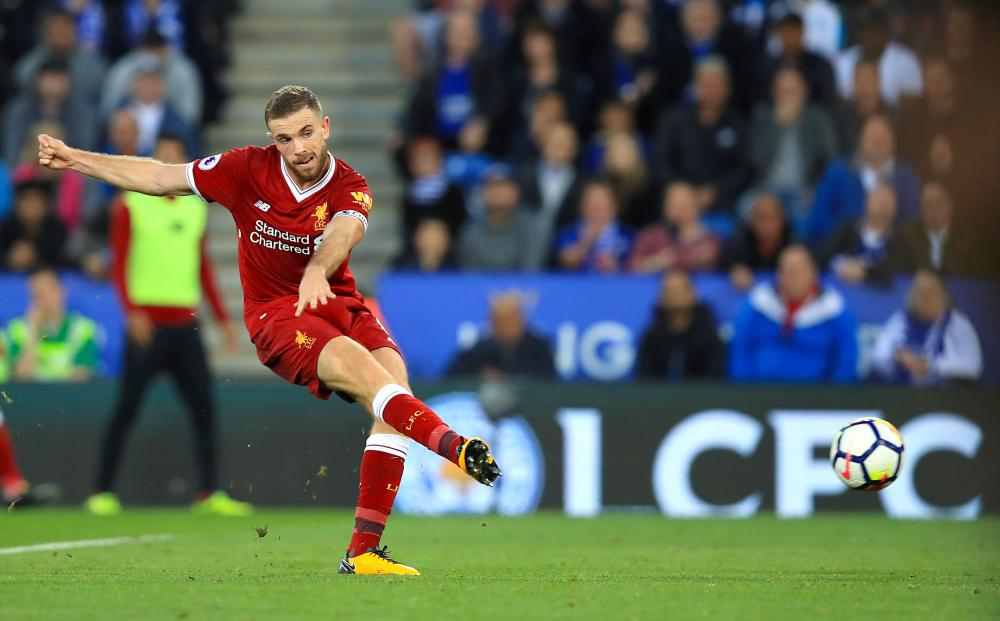 Henderson scores Liverpool's third.
