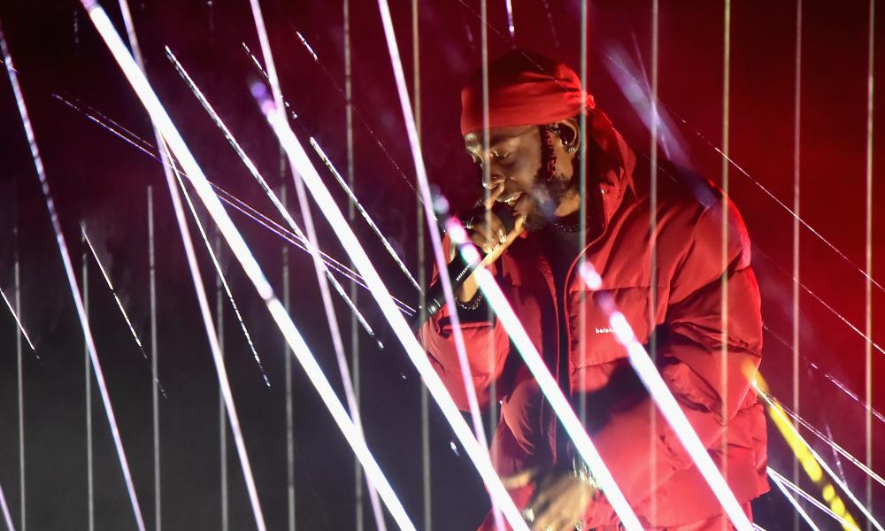 Punchy and relentless … Kendrick Lamar at the 2017 MTV Video Music awards.