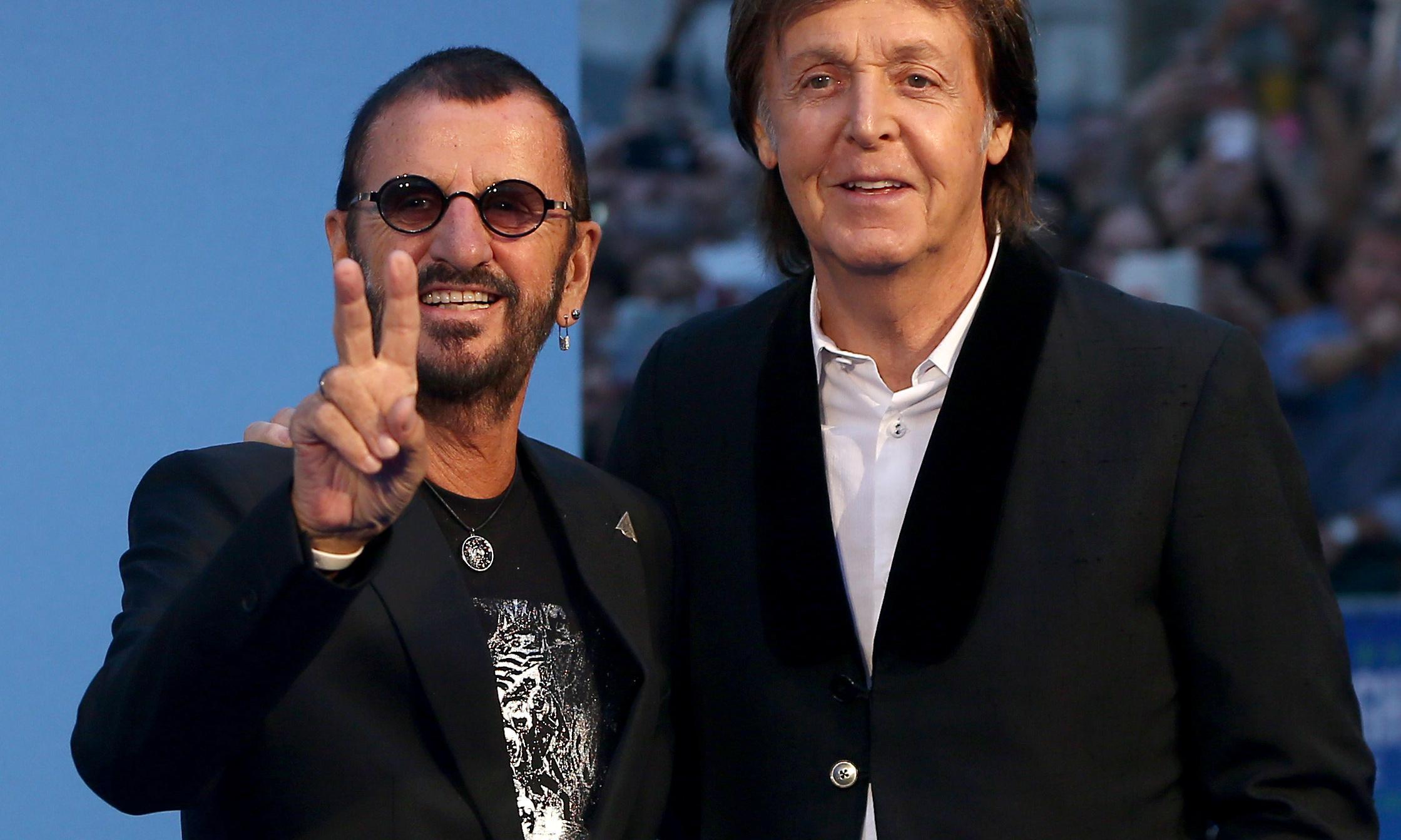 Paul McCartney and Ringo Starr reunite to record John Lennon song