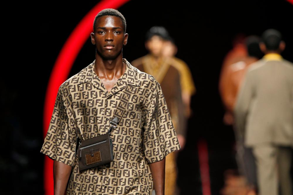 Logos were in the spotlight at Fendi.