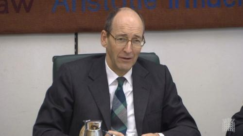 Committee chair Andrew Tyrie.