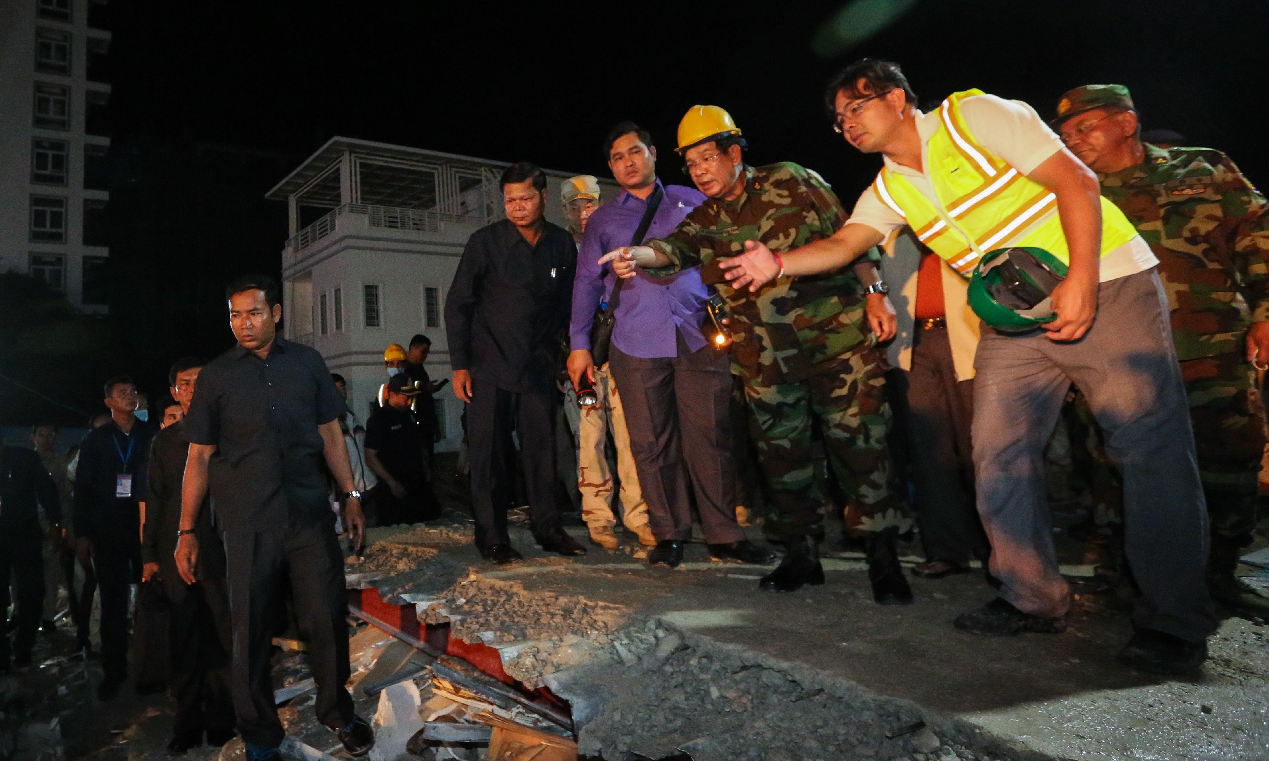 Chinese contractors held as toll in Cambodia building collapse rises to 24