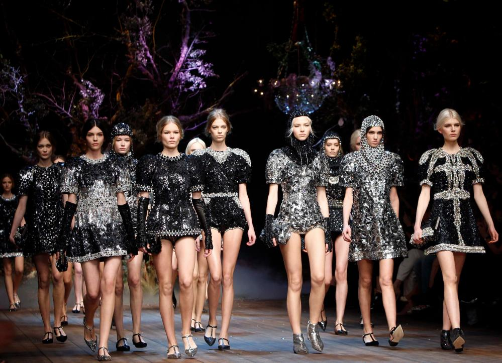 Dolce & Gabbana's Autumn/Winter 2014 collection.