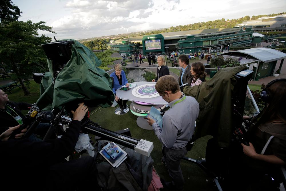 inside the bbc at wimbledon a photo essay sport the guardian highlights package