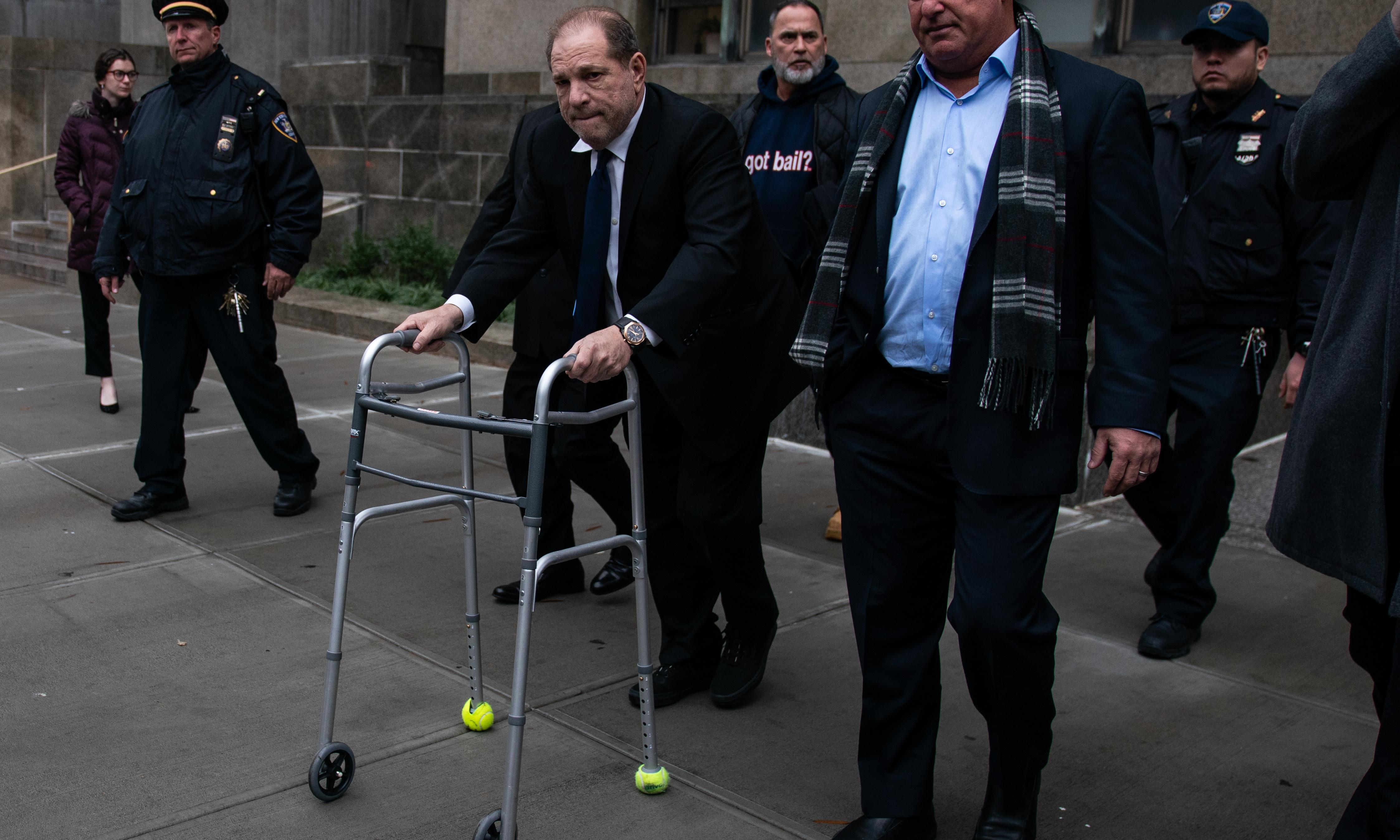 No chance Harvey: the charges against Weinstein are so serious his zimmer-frame shuffle just doesn't cut it