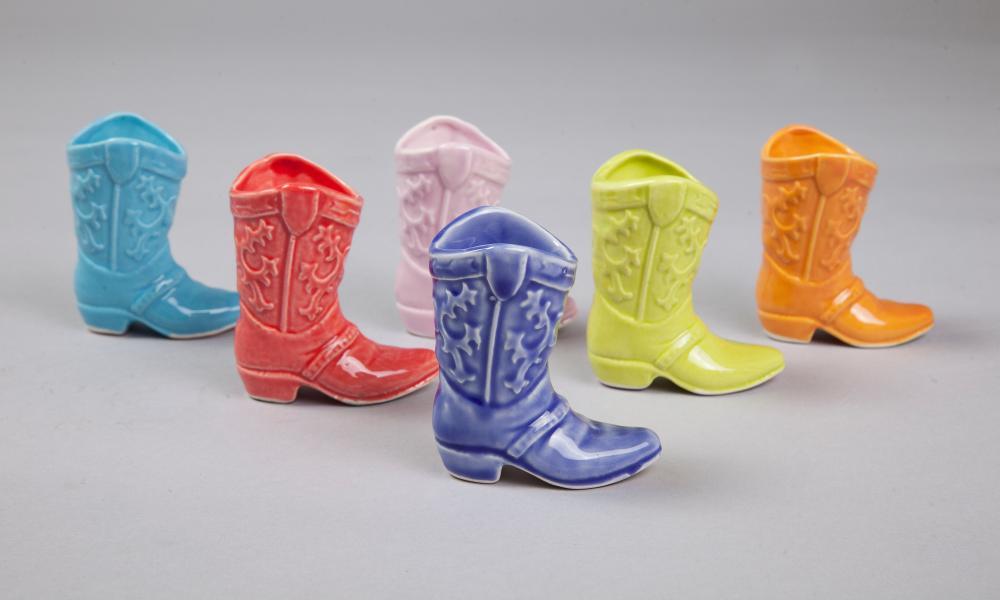 Bespoke Barware cowboy boot shot cups