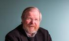 Bill Bryson photographed at the Wellcome Institute.