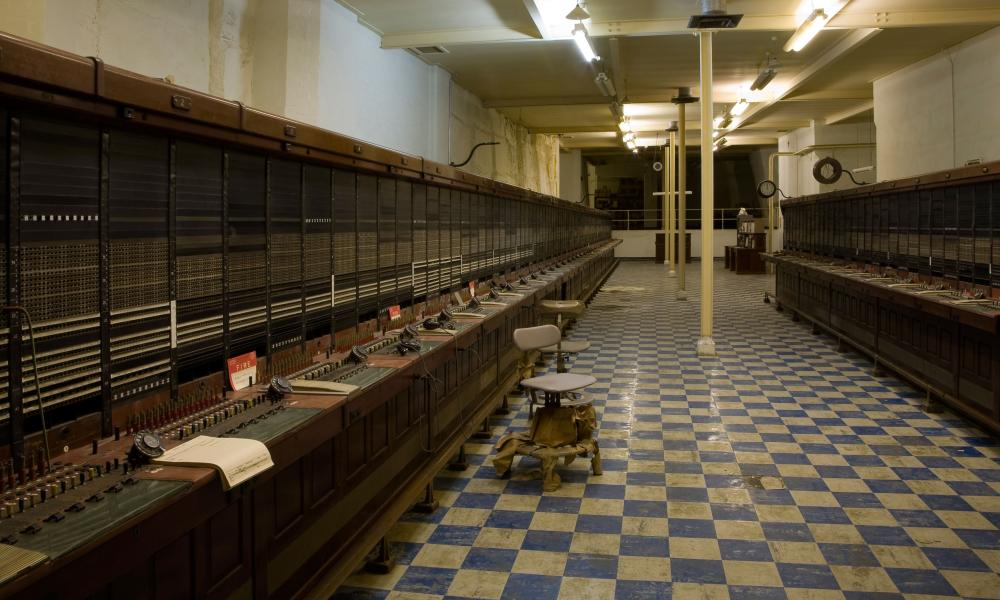 "The telephone exchange in ""Burlington"", a 35-acre underground city just outside Bath, UK."