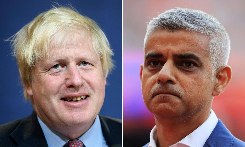 Boris Johnson (L) and Sadiq Khan