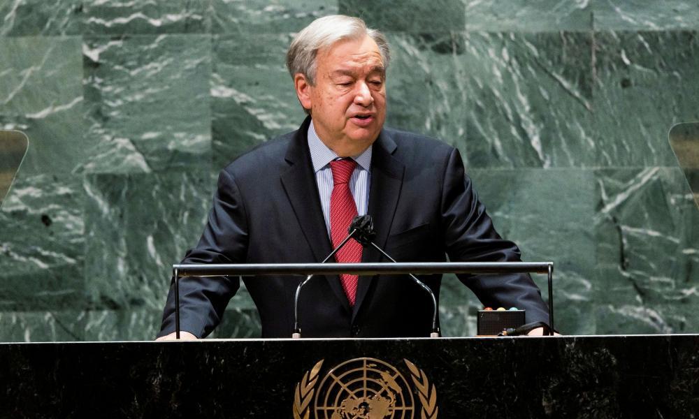 United Nations Secretary-General Antonio Guterres.
