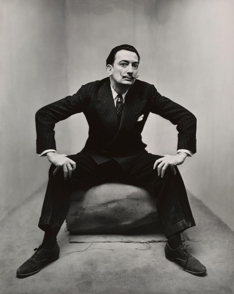 Irving Penn's image of Salvador Dali.