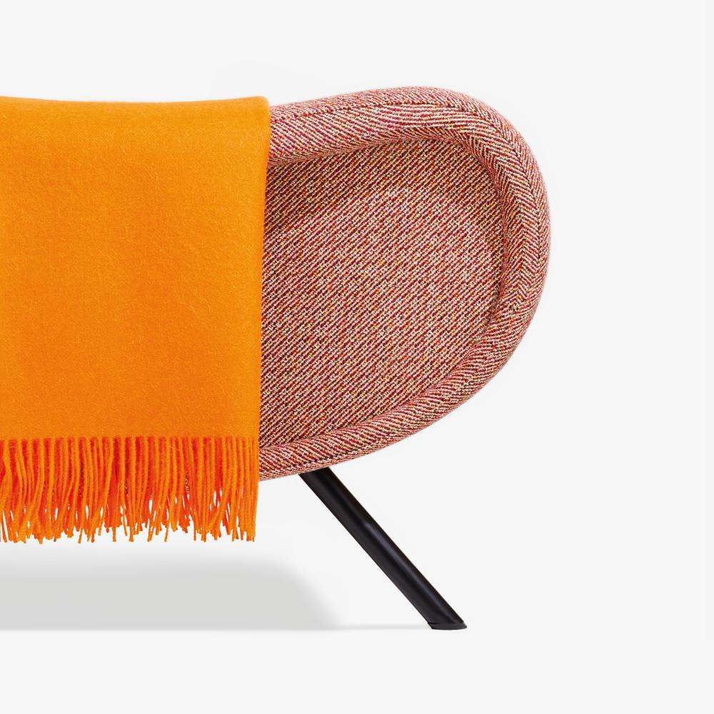 Noise 562 from Simons' 2015 collection for Kvadrat, seen on a Cassina Lady chair by Marco Zanuso