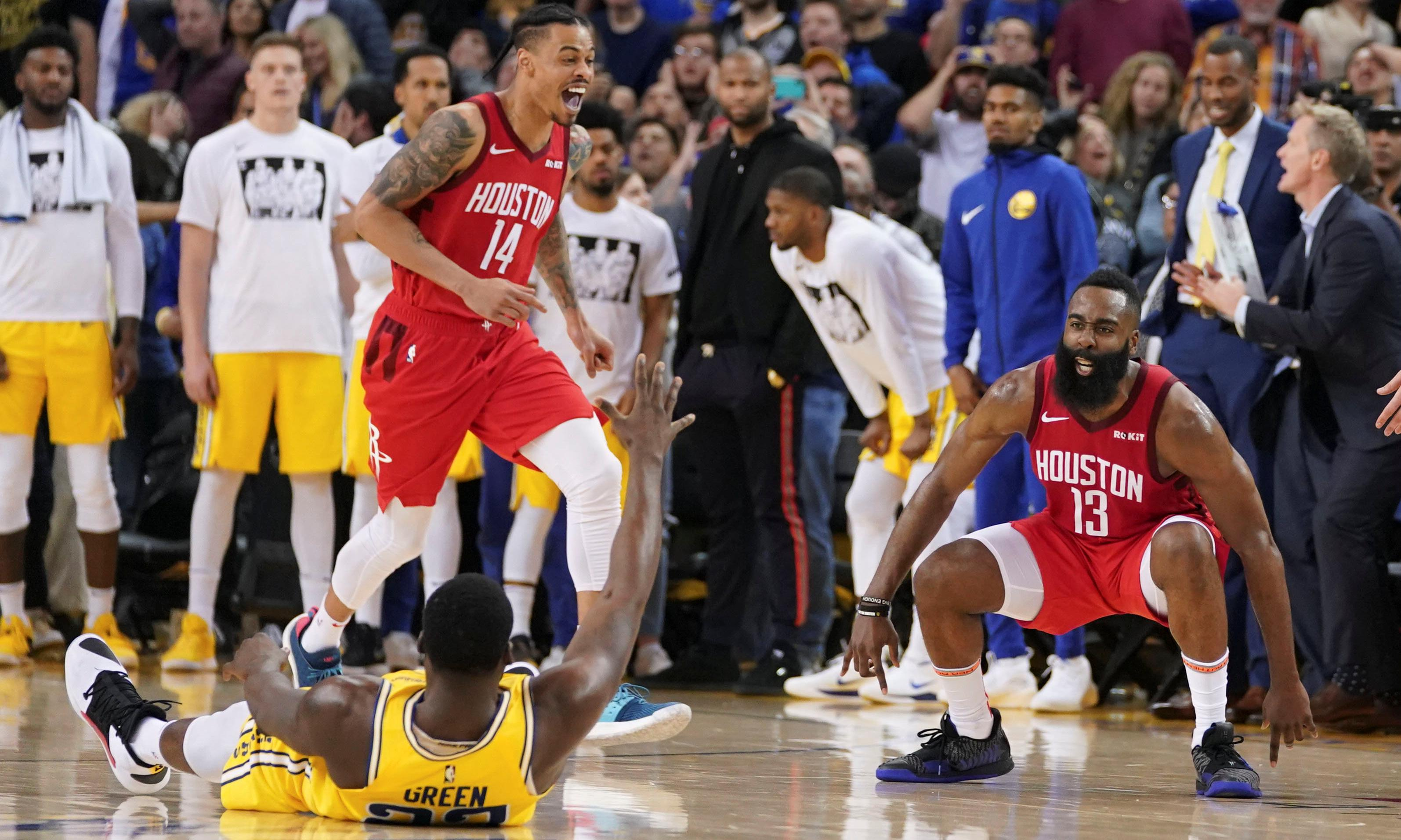 Harden's 'impossible' shot secures Rockets' 20-point comeback against Warriors