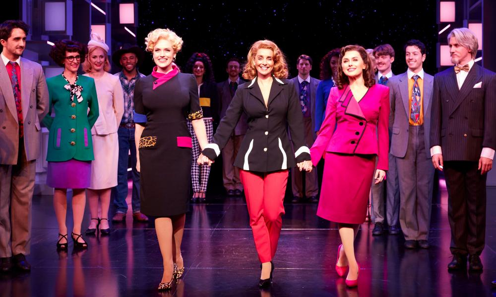 Redknapp with Natalie McQueen and Amber Davies in 9 to 5 The Musical
