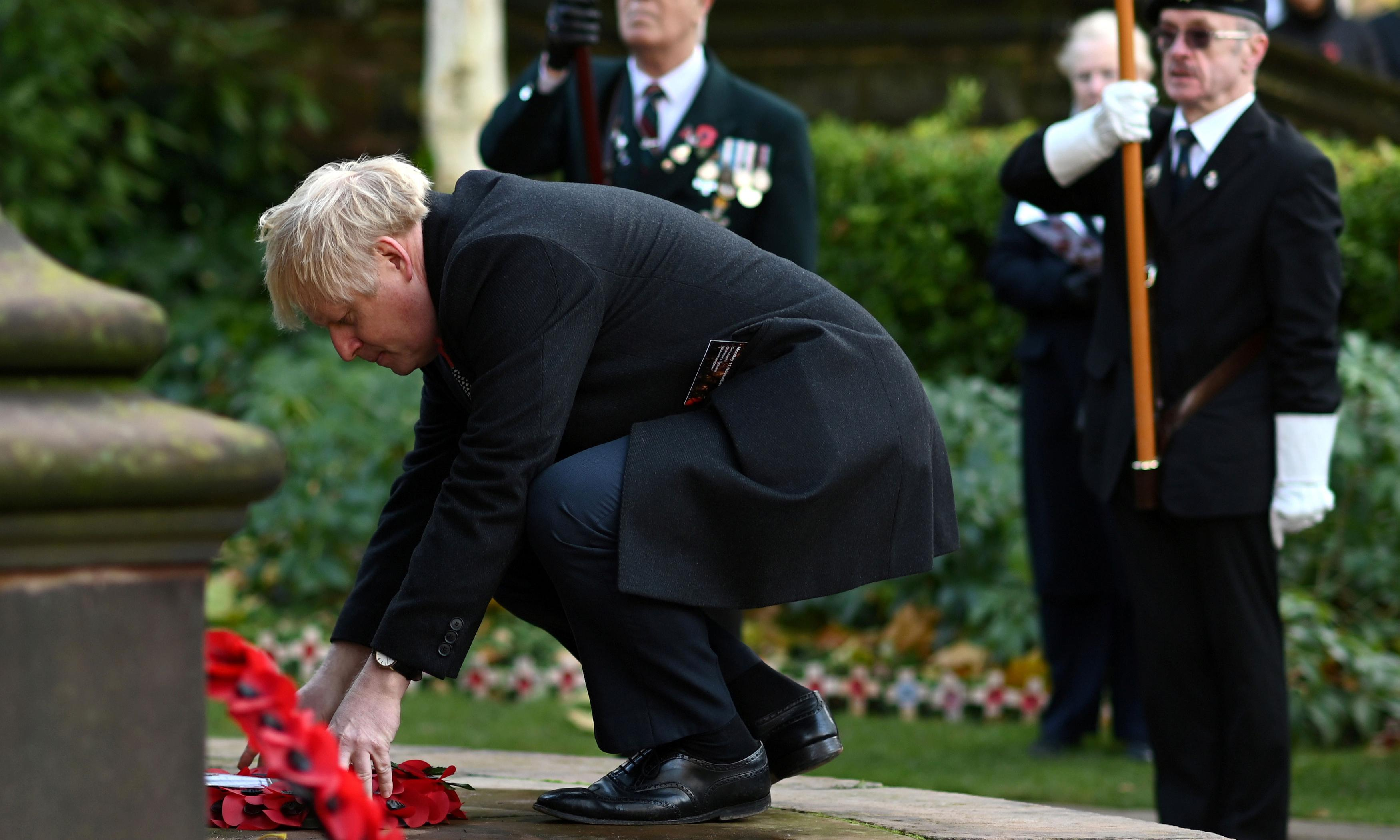It's not a conspiracy. Boris Johnson is just bad at laying wreaths and mopping floors
