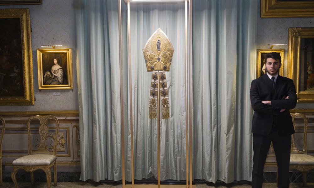 The mitre of Pope Pius XI.