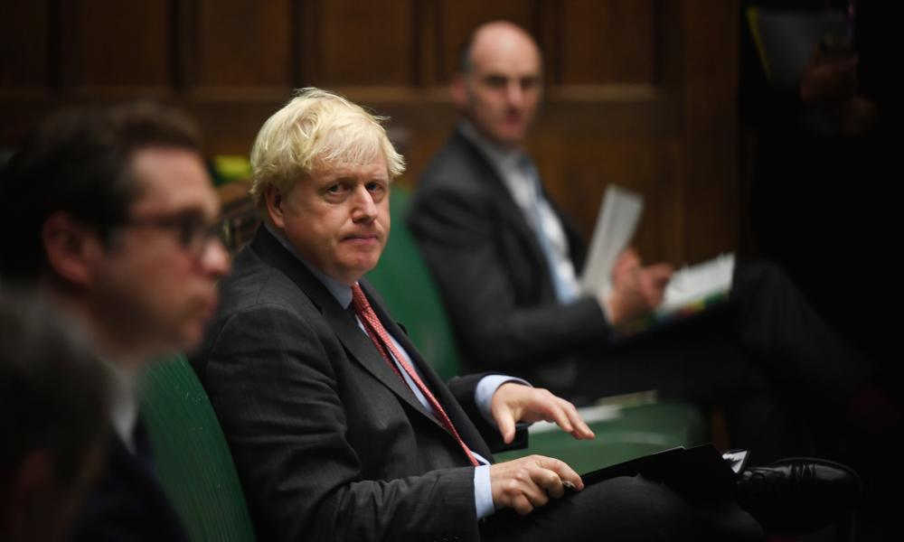 Boris Johnson in the Commons today, photographed by the official Commons photographer, Jessica Taylor