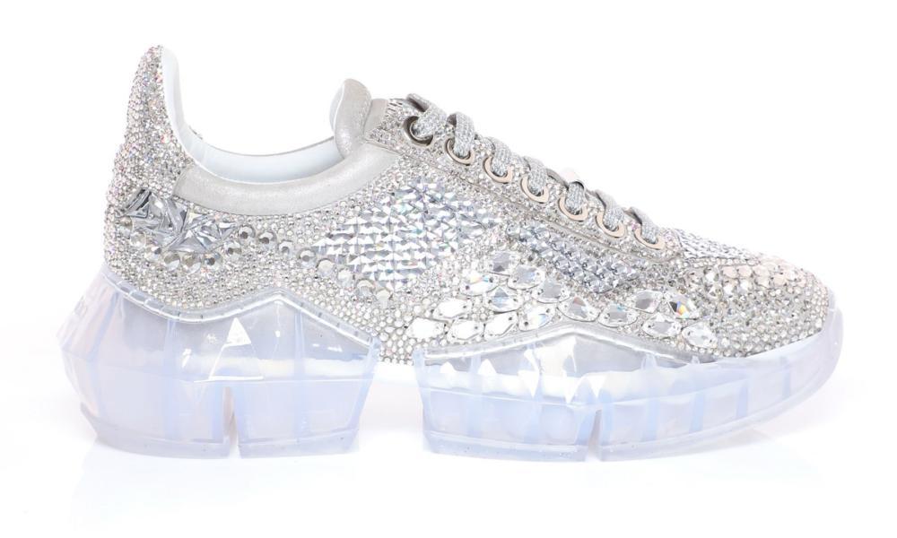 Diamond trainers by Jimmy Choo.