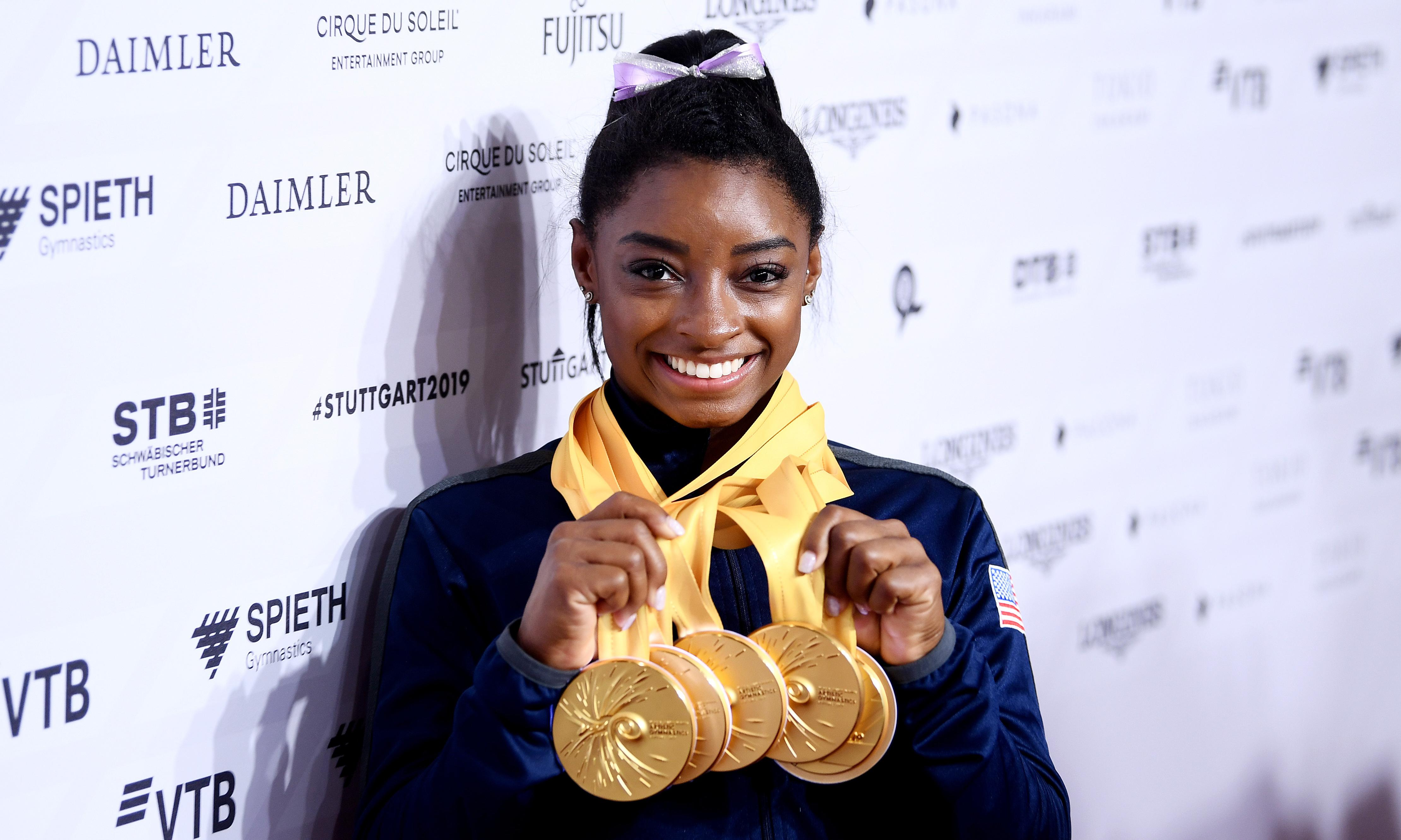 The unstoppable Simone Biles shows again her only competition is herself