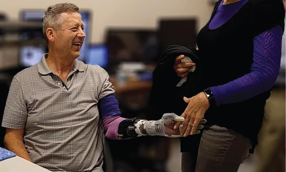 'At last I can feel again': Robotic hand gives user a sense of touch