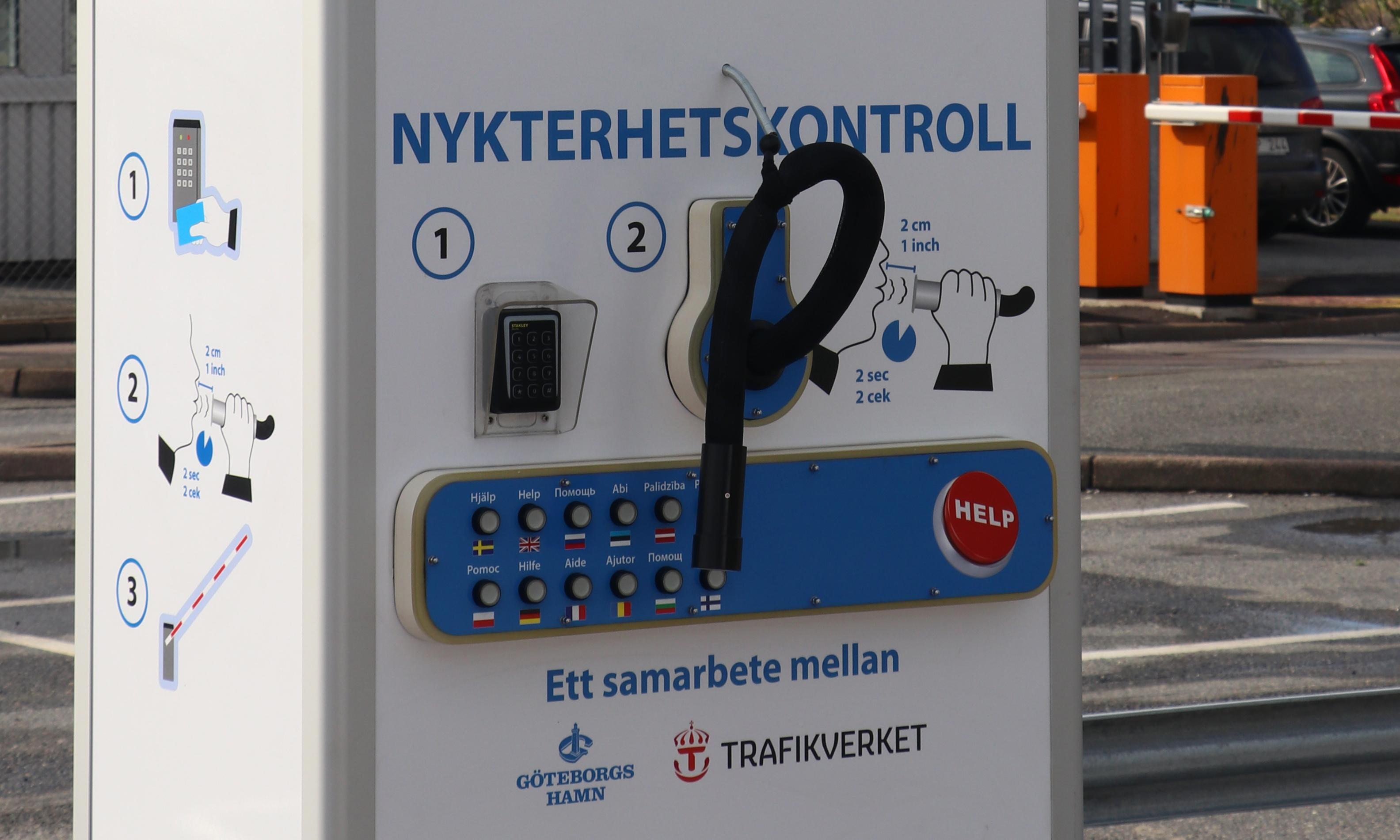 Sweden installs automatic 'alco-barriers' for drivers at ferry port