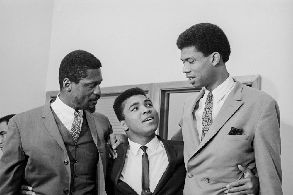 Muhammad Ali, Bill Russell and Kareem Abdul-Jabbar