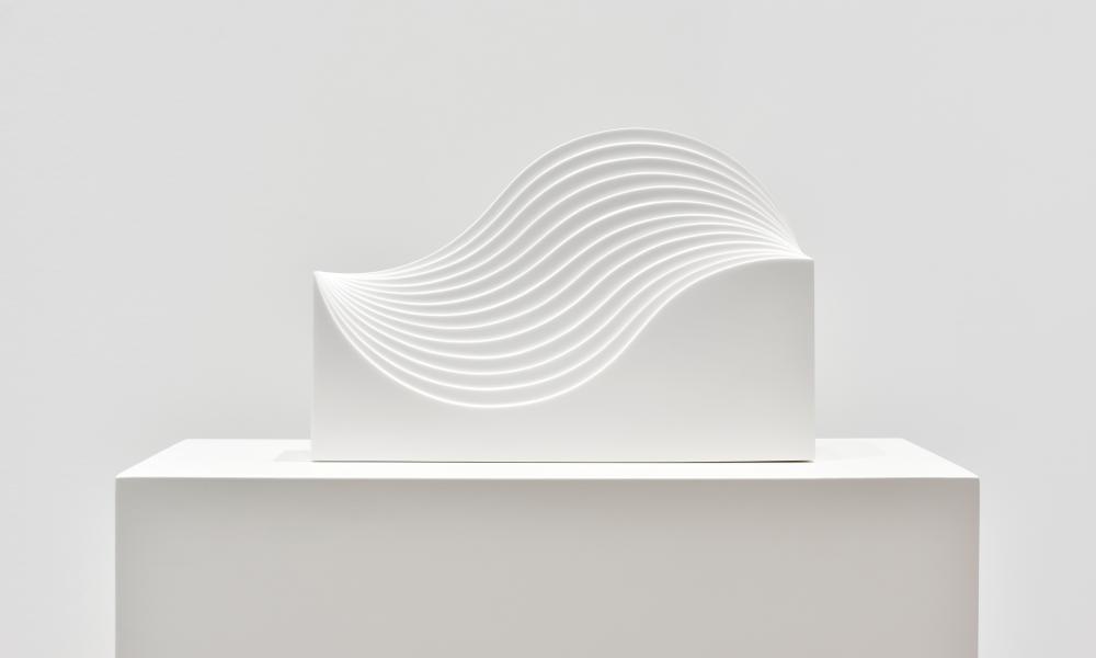 Vague, 1960-2018 white sculpture.