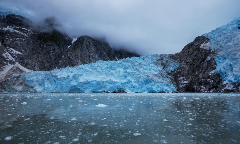 Glacier on Alaska.