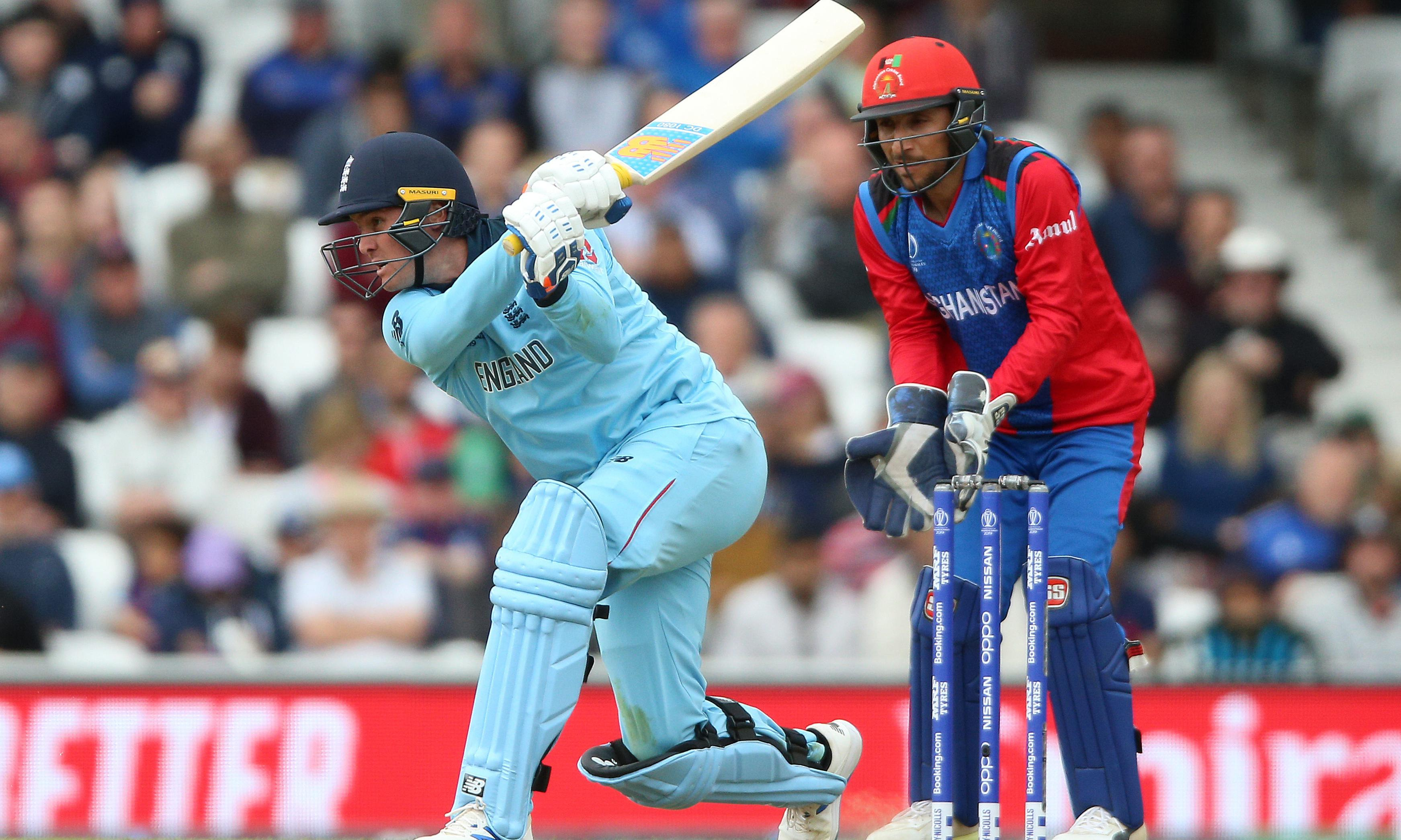 England thrash Afghanistan by nine wickets in World Cup warm-up match