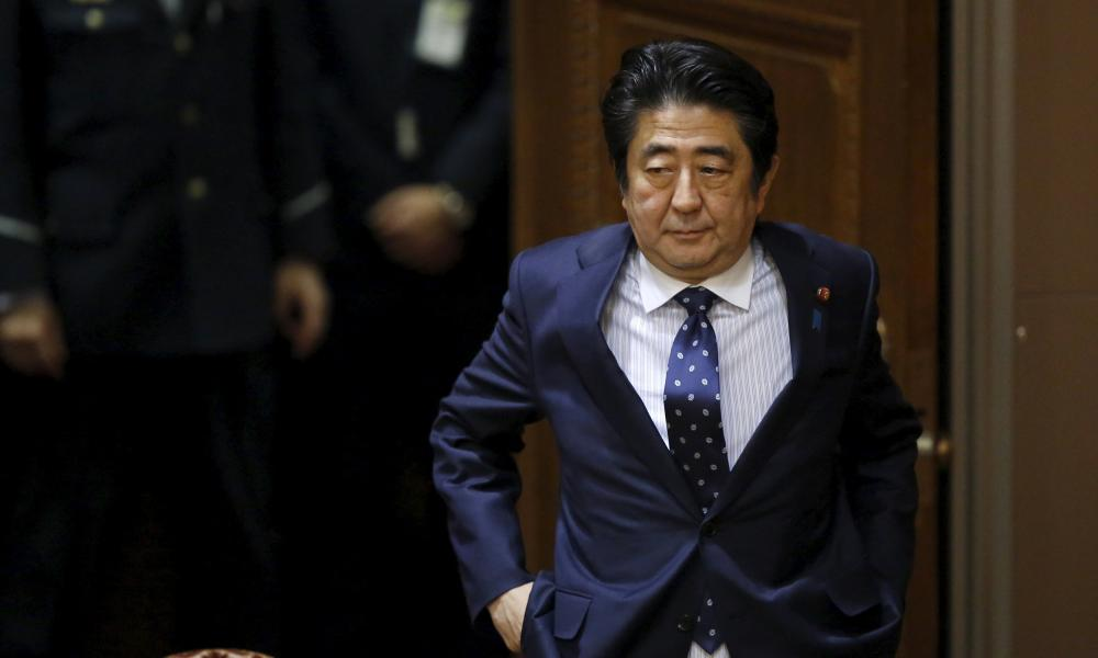 Shinzo Abe hopes the G20 finance leaders will take action on the world's financial turmoil.