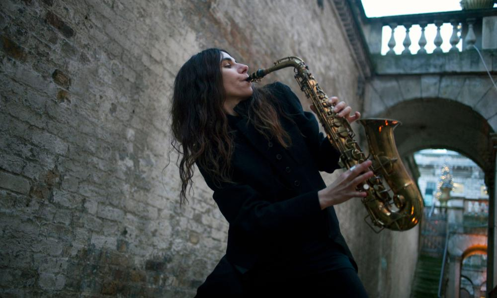 PJ Harvey at Somerset House, where she recorded her ninth album in front of an audience.