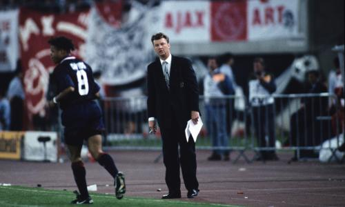 Dutch Eredivisie - AC Milan,Ajax<br>Louis van Gaal during the Champions League final match between Ajax Amsterdam and AC Milan on May 24, 1995 in Vienna, Austria.(Photo by VI Images via Getty Images)