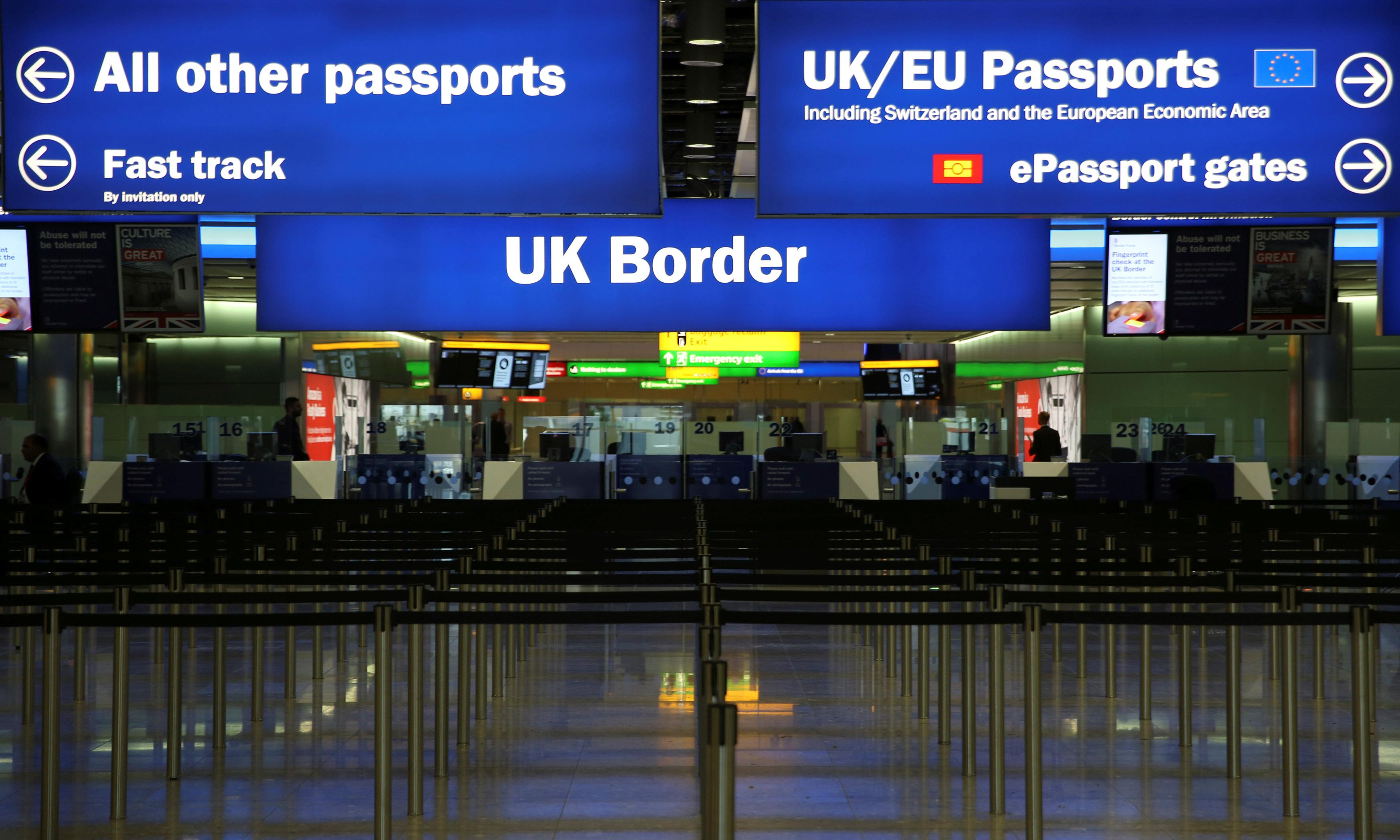 EU migration to UK at lowest level since 2013, disputed data shows