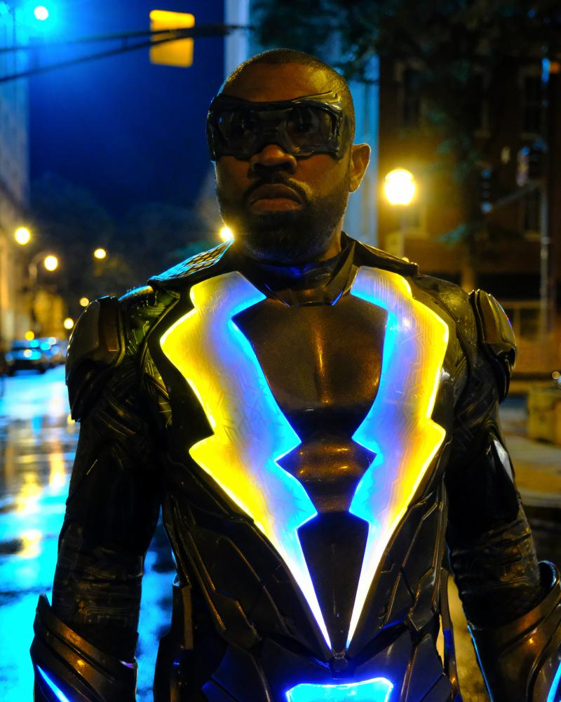 Cress Williams as Black Lightning on Netflix.