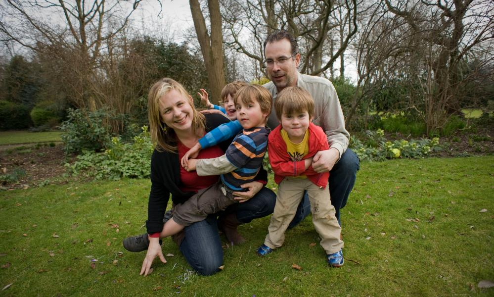 Bibi and  her husband, Mike, with their sons in 2010.