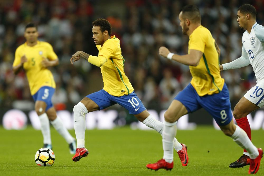 Neymar strides forward.