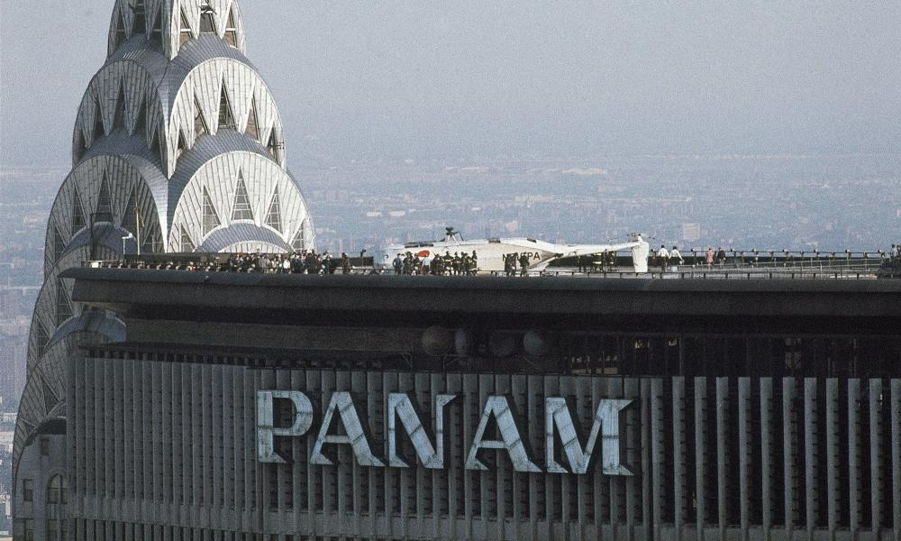 In 1977, a helicopter crash-landed atop the Pan Am building in New York.